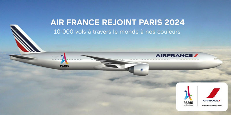 Paris 2024 olympic bid boards air france with official for Air france assistance chaise roulante