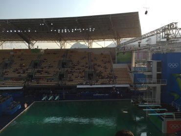 Canadian Bronze Medalist Credits Discolored Pool Water For Diving Success In Rio