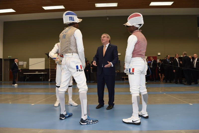 IOC President Bach Welcomed In Paris By Olympic Bid Committee